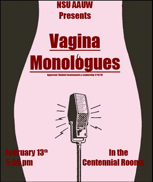 AAUW Vagina Monologues poster
