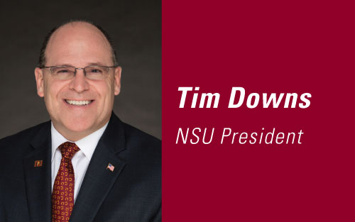 President Downs graphic