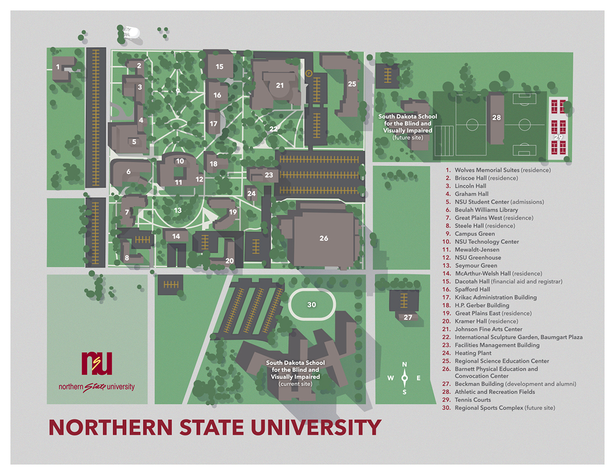 Location And Parking Northern State University