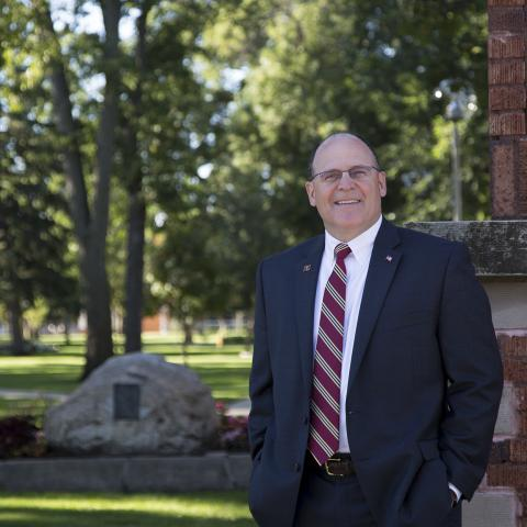 Dr. Timothy Downs on campus