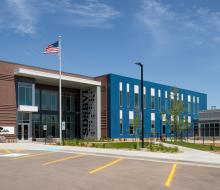 Front of new S.D. School for the Blind and Visually Impaired