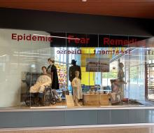 Historical display of past epidemics set up in the science center