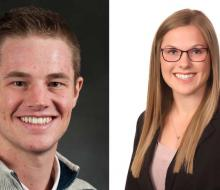 Headshots of male and female alums
