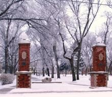 NSU Campus in Winter