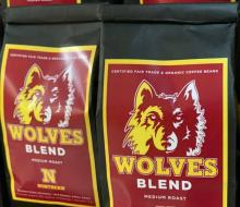 Bags of Wolves blend coffee
