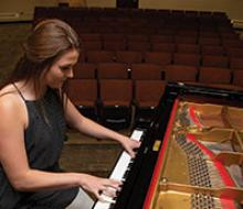 A pianist performs