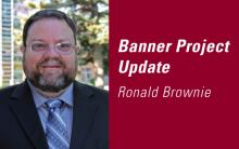 Ronald Brownie Banner Project Update web graphic