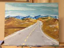 landscape painting by NSU student