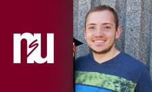 Picture of male student with NSU logo