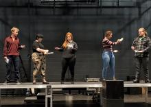 NSU Theatre cast members on stage