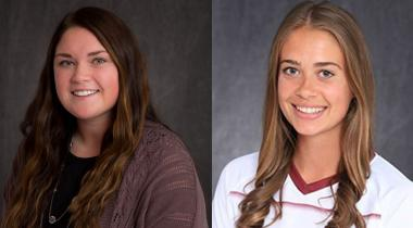 Portraits of two female NSU students side by side
